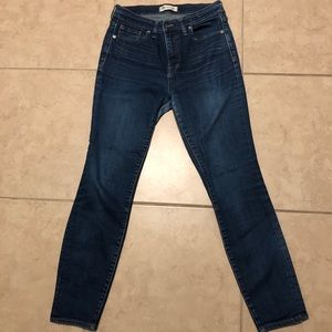 "Madewell 10"" High-Rise Skinny Jeans Sz 29"